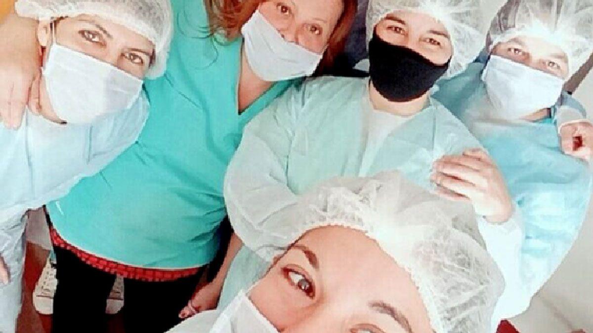 El equipo de trabajadoras de la Residencia San José.