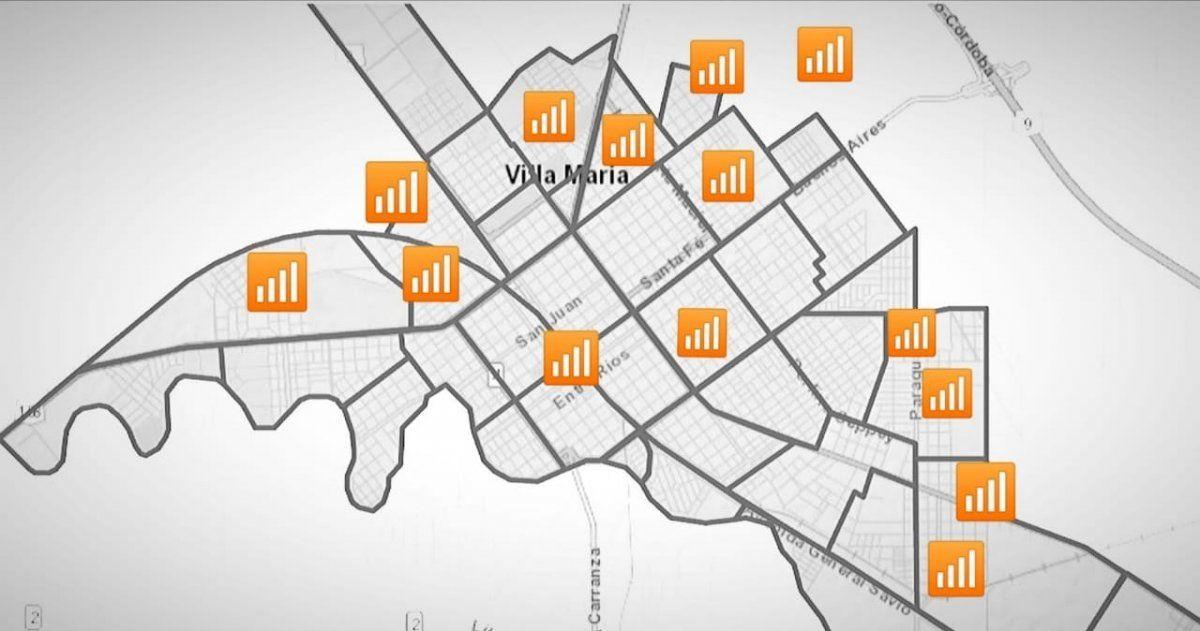 Catorce puntos de la ciudad ya tienen conexión