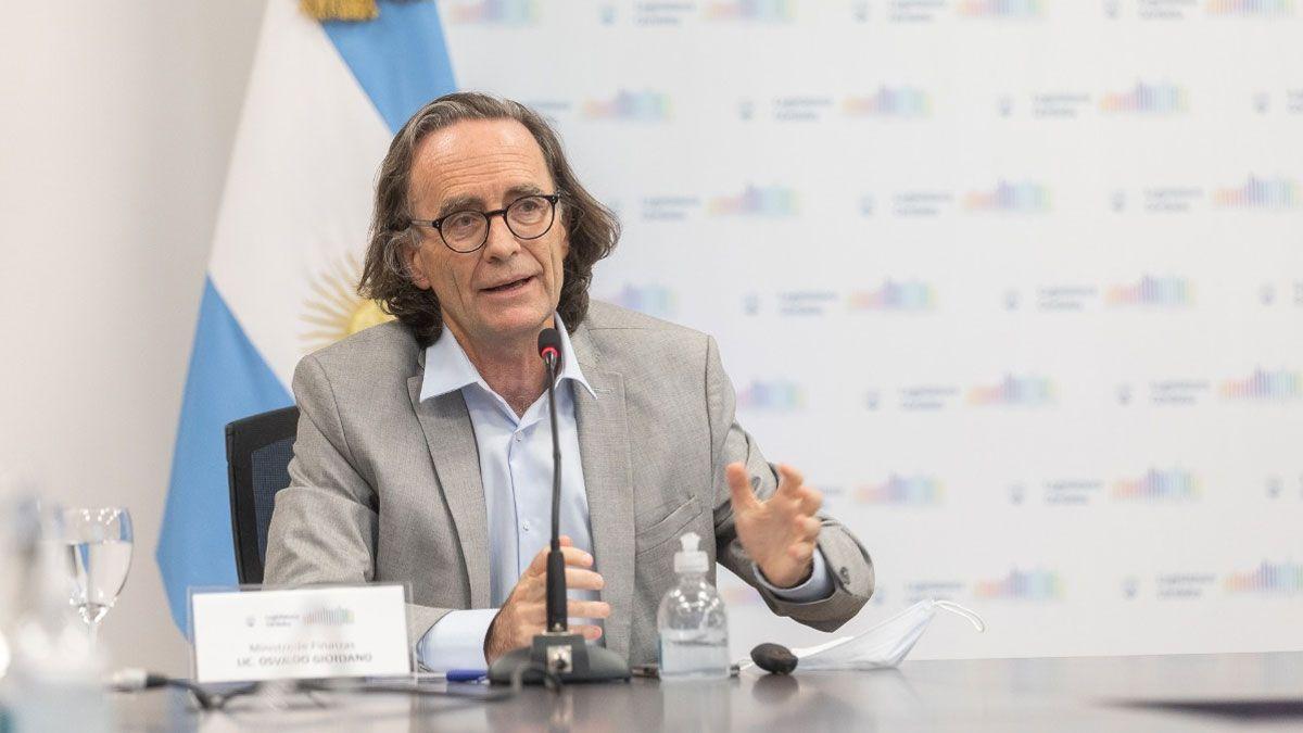 El ministro de Finanzas de Córdoba Osvaldo Giordano