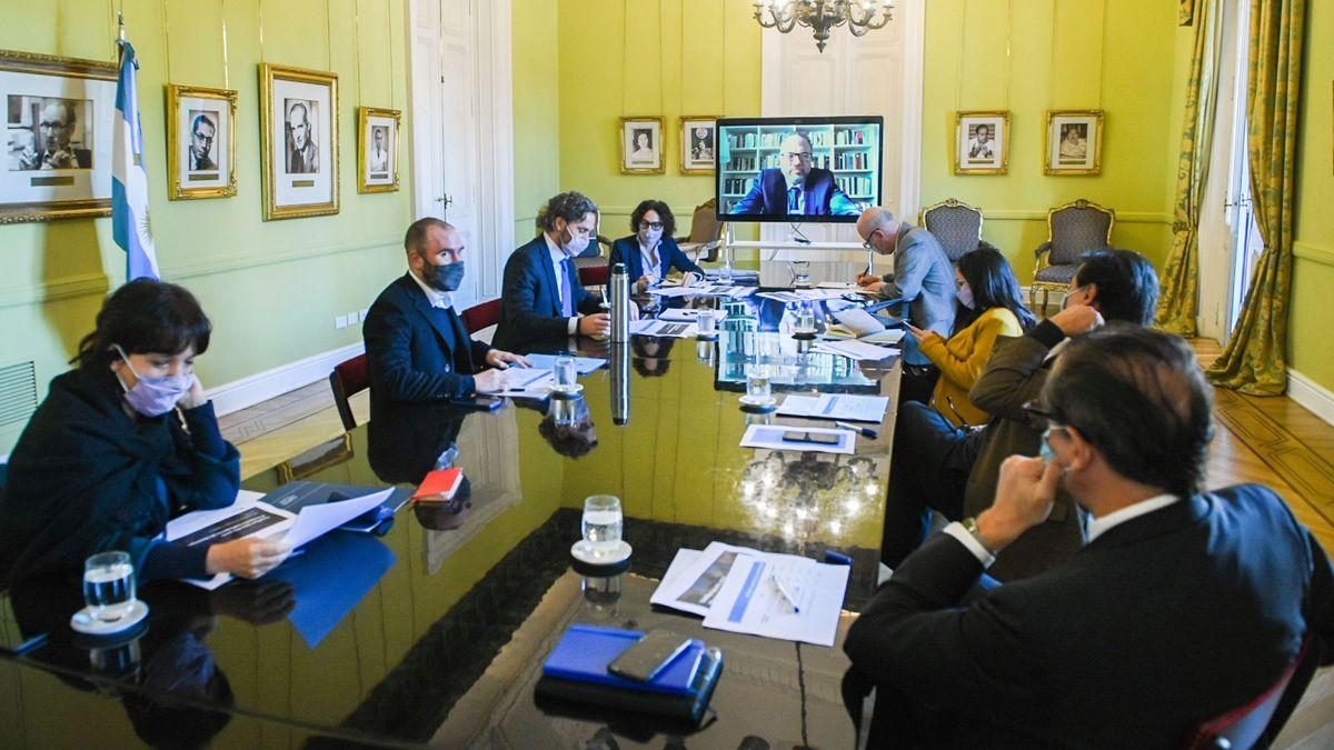 Martín Guzmán formó parte este viernes de la reunión de gabinete económico.