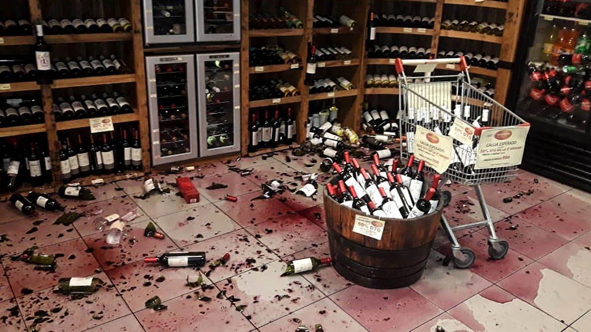 En una vinoteca