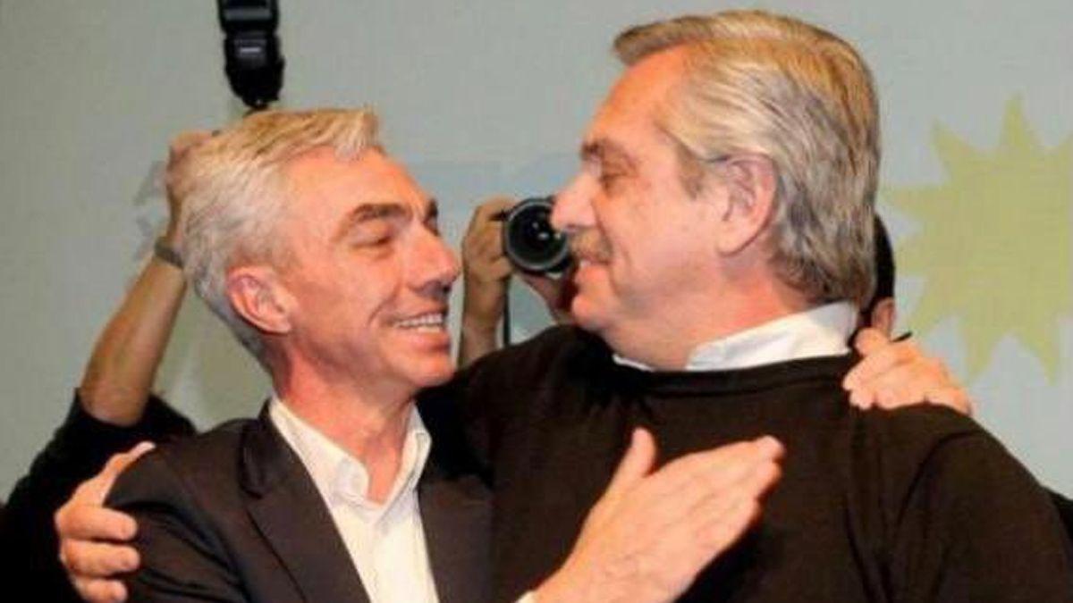 El presidente Alberto Fernández compartió una foto con Meoni.