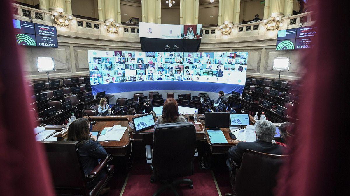 Juntos por el Cambio irá a la Justicia por el protocolo de sesiones virtuales del Senado