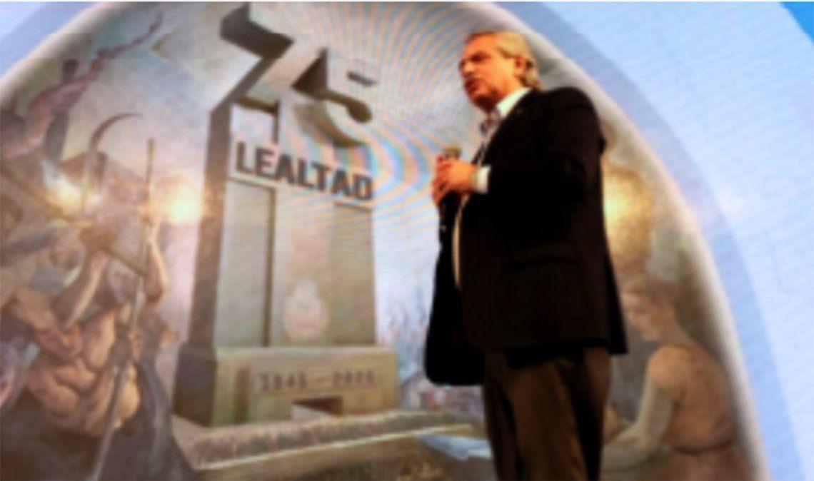 Fernández presidió el acto del 17 de octubre y llamó a deponer el odio