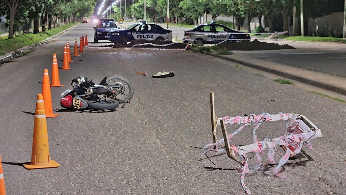 Asisten a un motociclista tras accidentarse en barrio Alberdi