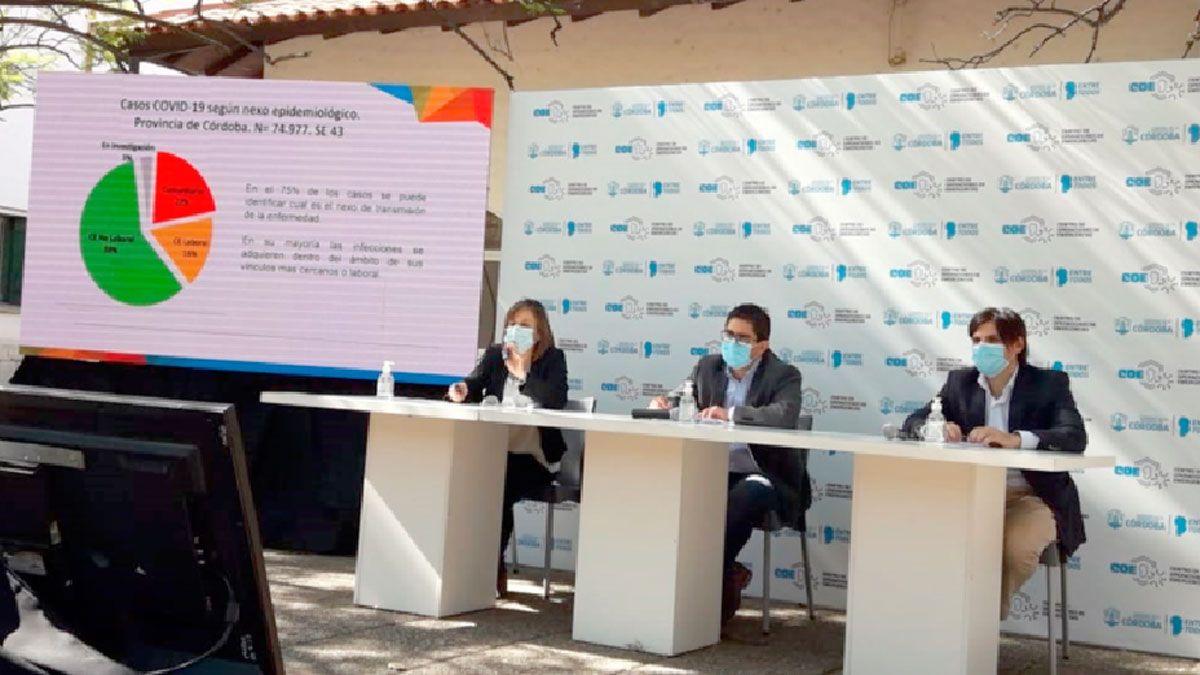 Los funcionarios del Ministerio de Salud de Córdoba brindaron ayer un nuevo informe epidemiológico.