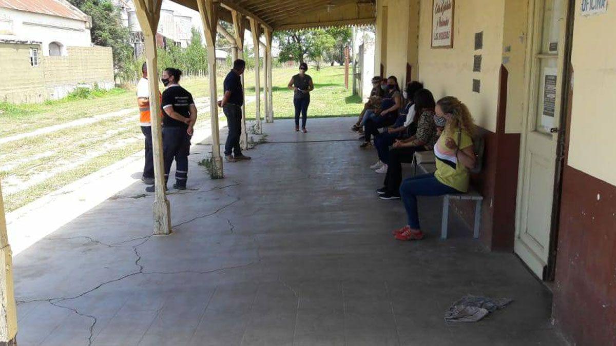 Los testeos son realizados en el centro de aislamiento dispuesto desde el inicio de la pandemia en la estación de ferrocarril de la localidad.