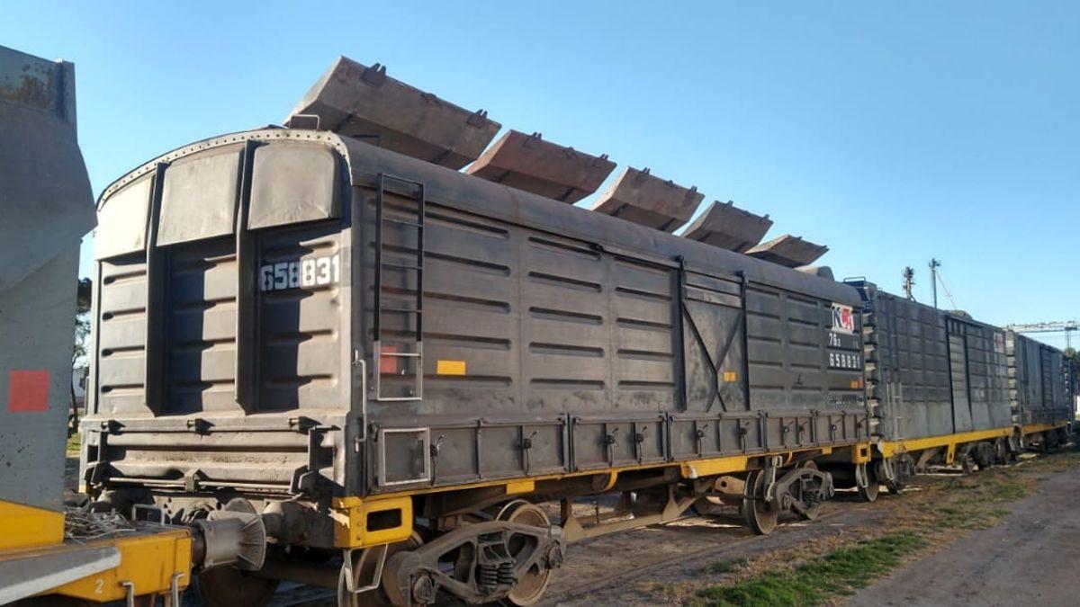 El maíz fue sustraído desde el vagón de un tren en General Cabrera.