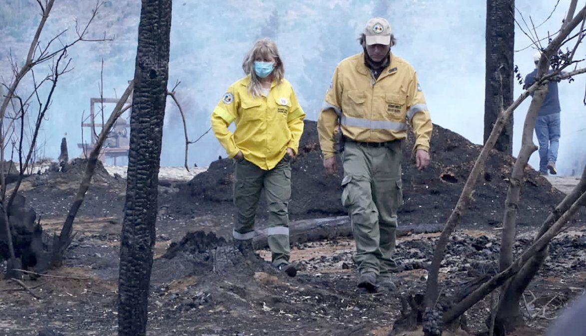 Incendios en la Patagonia andina: encontraron muerto a un peón rural