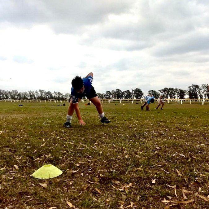Jockey Club volvió a las prácticas individuales de rugby infantil