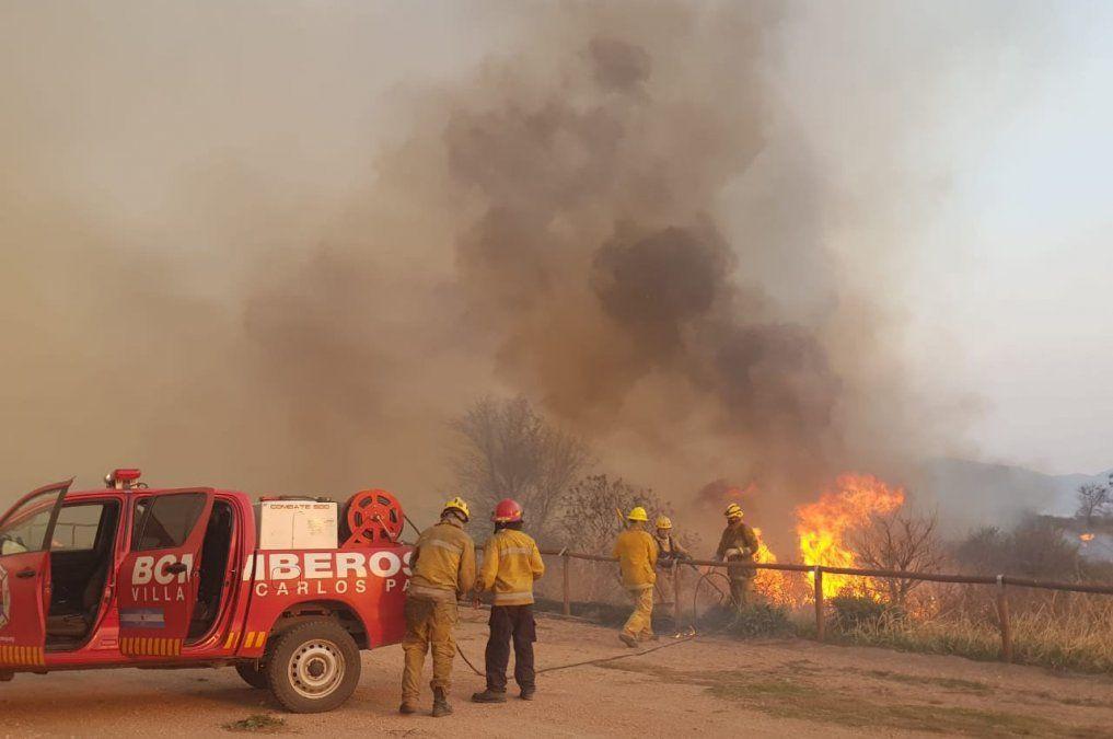 Incendios en Córdoba:la labor se vuelca a las zonas con focos activos y puntos calientes