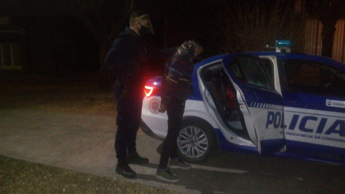 Detenido. Luego de darse a la fuga fue interceptado por efectivos policiales.