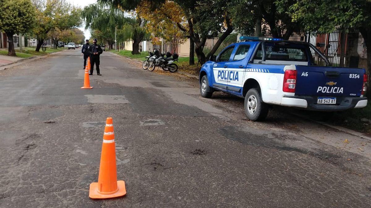 En los barrios la Policía también tuvo presencia.