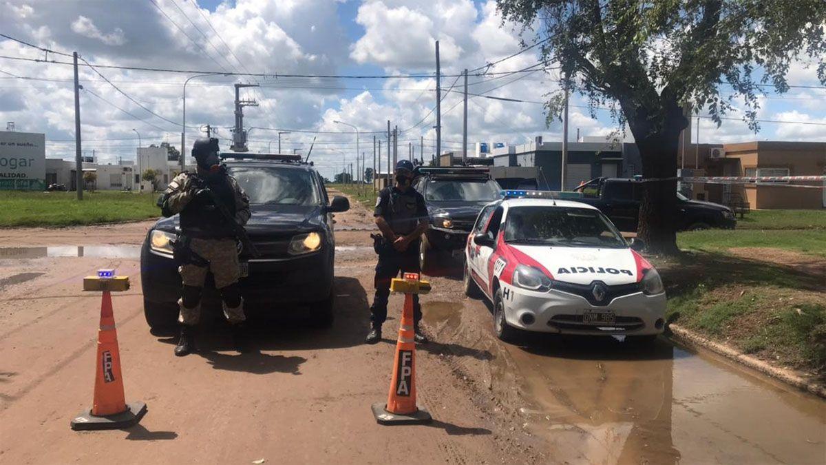 El operativo se desarrolló en el sector sur de Laboulaye.