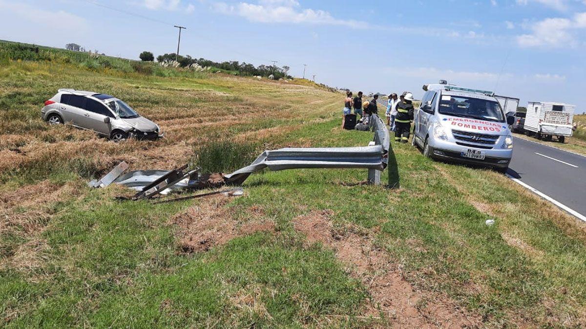 El accidente ocurrió en la tarde de este viernes en ruta 7