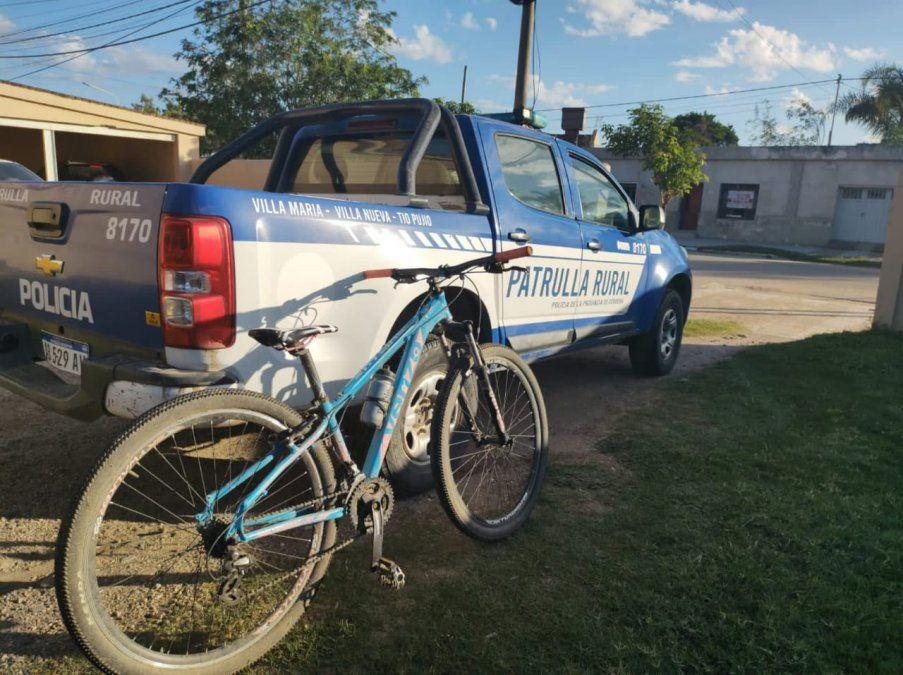 Detuvieron a dos jóvenes tras robar una bicicleta en Tío Pujio