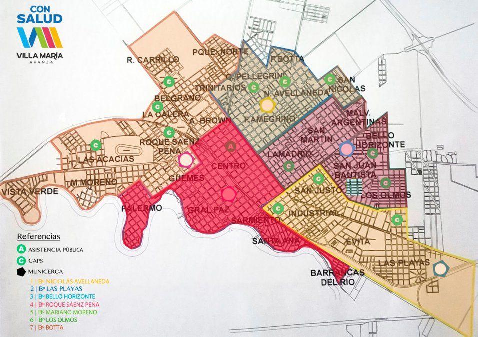 La ciudad fue dividida en cinco zonas