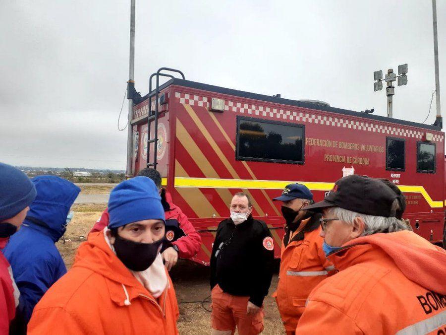 Los bomberos cordobeses ya trabajan en la búsqueda de Guadalupe