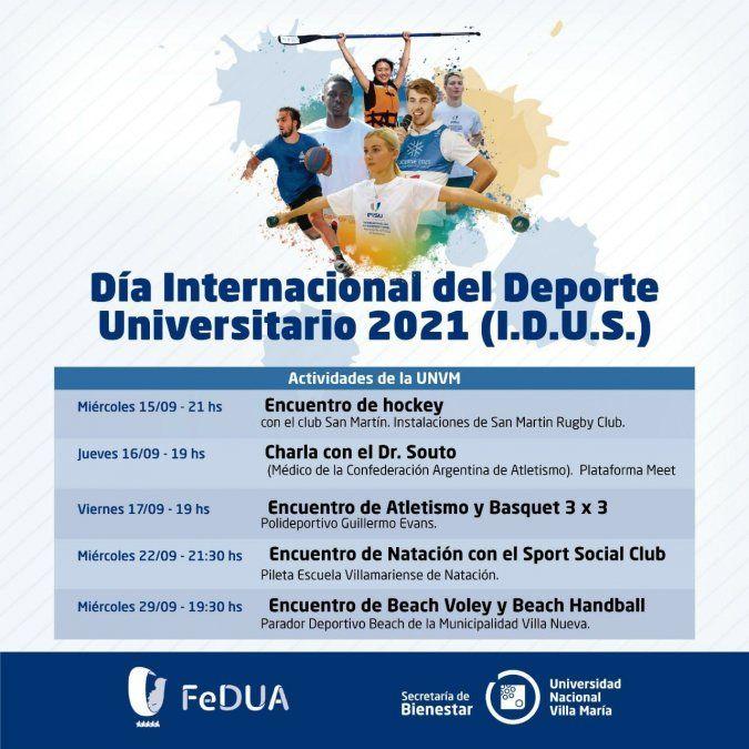 Actividades por el Día Internacional del Deporte Universitario