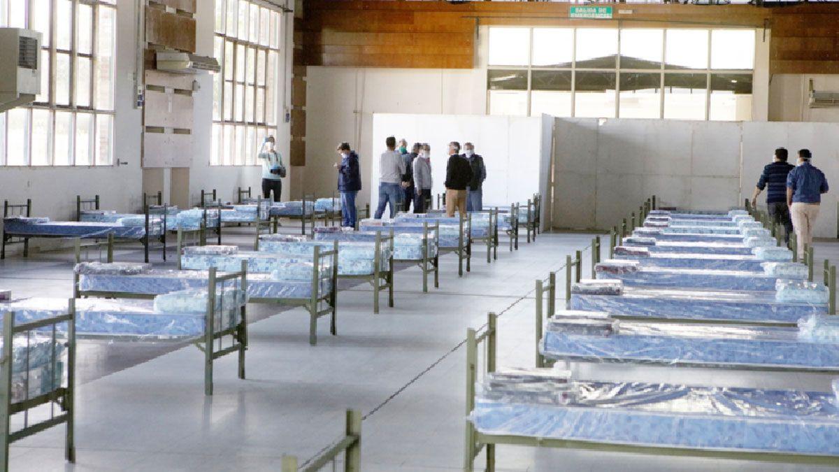 Las camas de los centros de aislamiento.