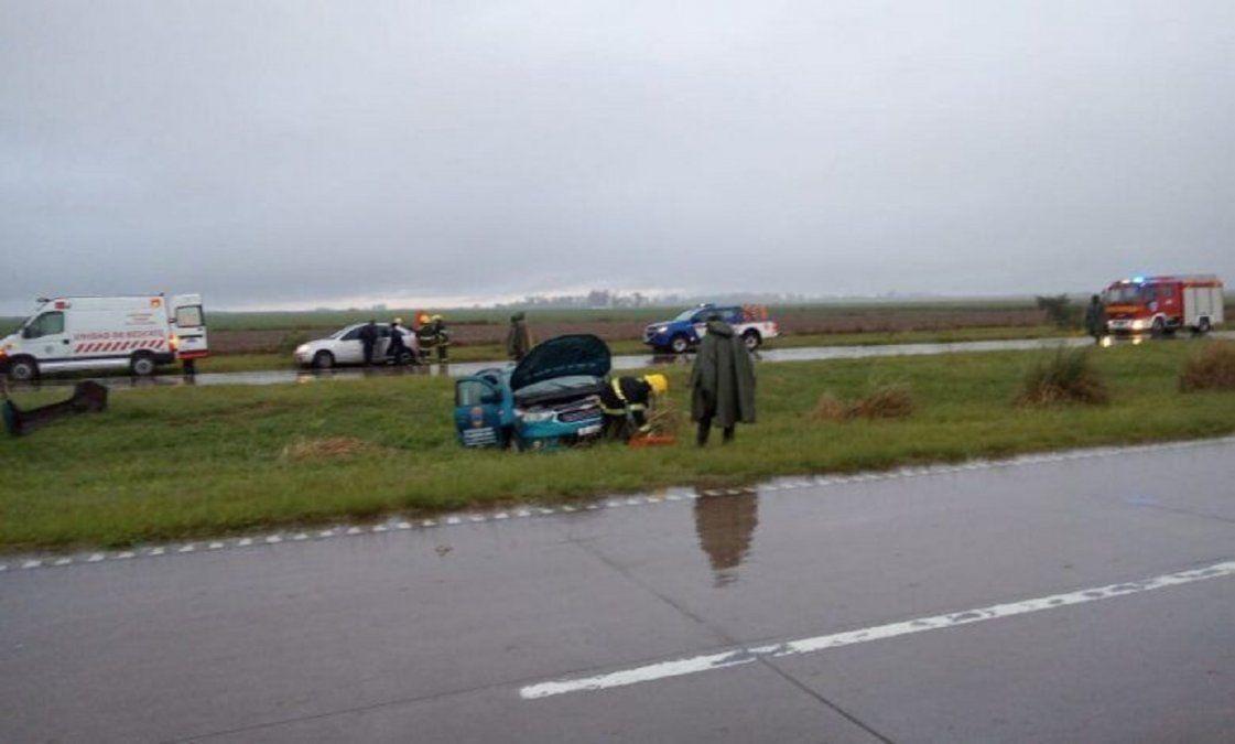 La intendenta de Monte Leña se accidentó en la Autopista