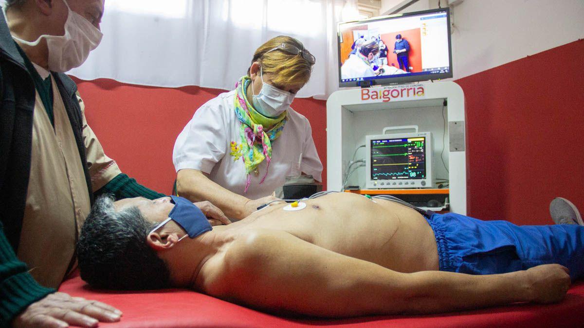 El Equipo Virtual de Rescate fue presentado en el dispensario de Coronel Baigorria.