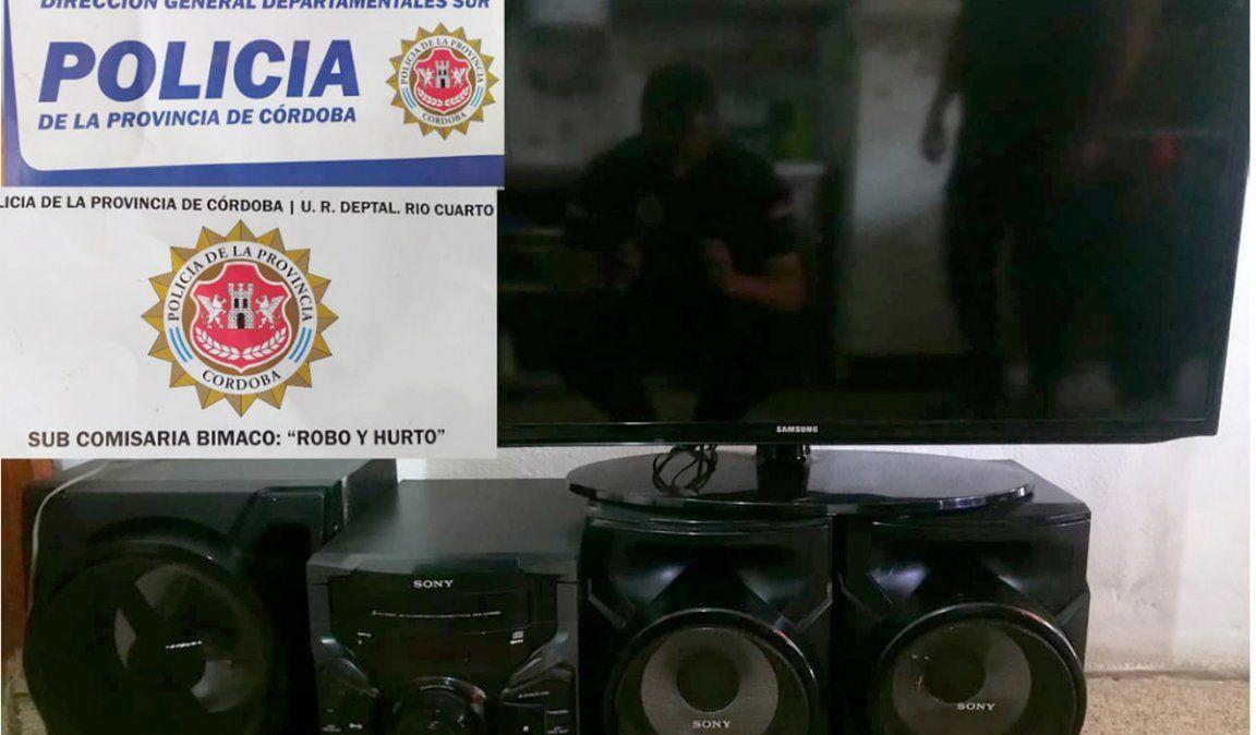 Recuperan un televisor robado en Bimaco