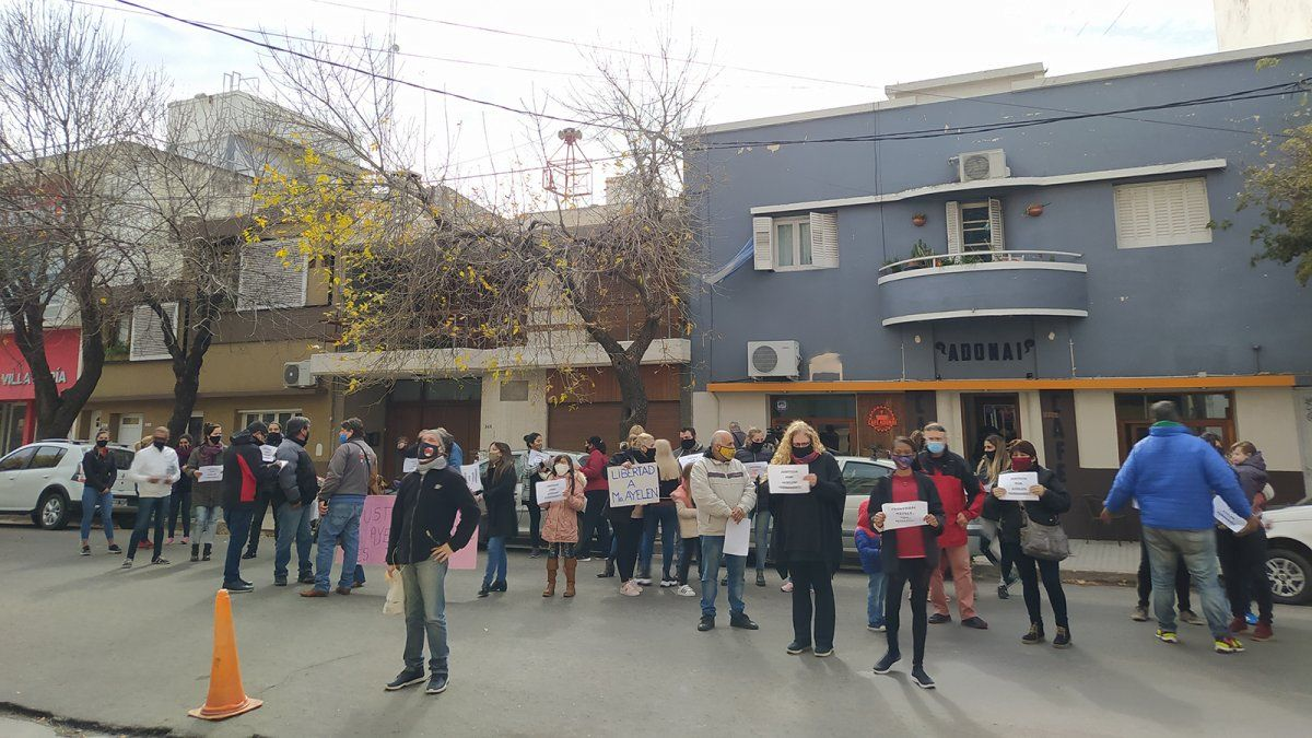 Se manifestaron por la liberación de Ayelén Fernández