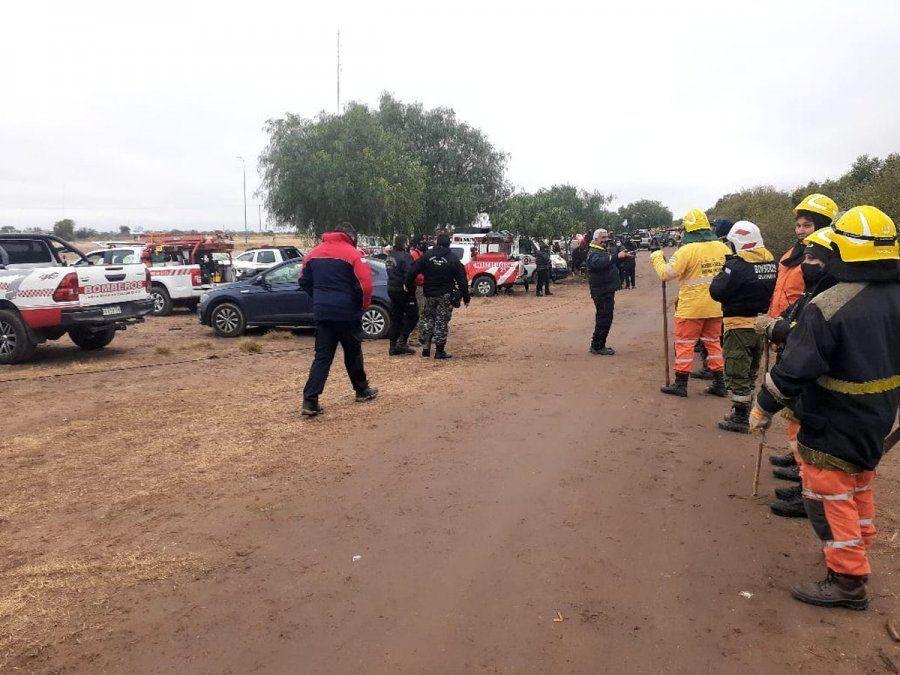 Las imágenes son del operativo realizado ayer en San Luis.