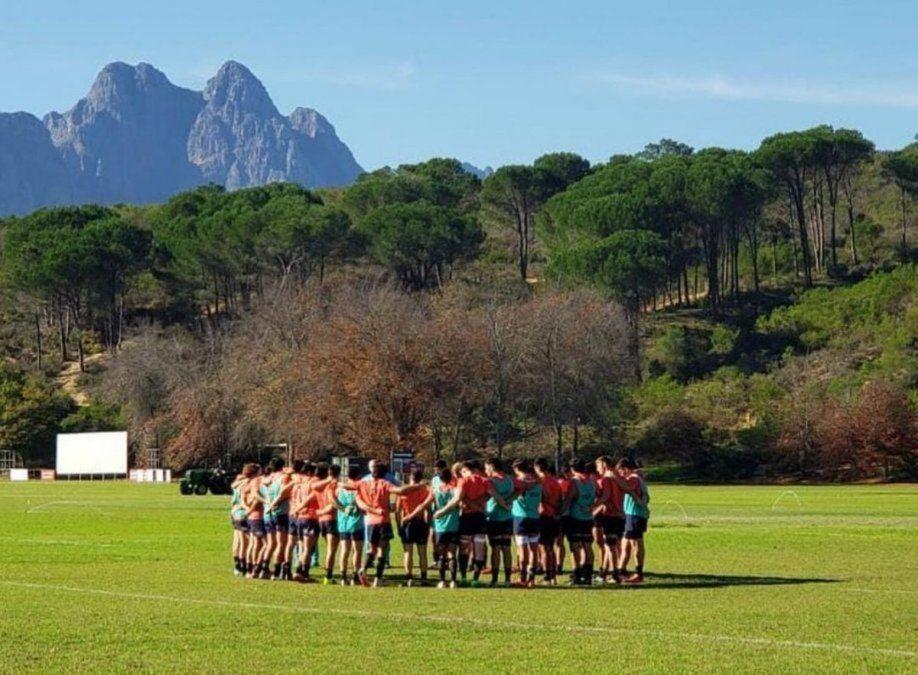 Pumitas con sello villamariense. El equipo argentino entrenó en Stellenbosch.
