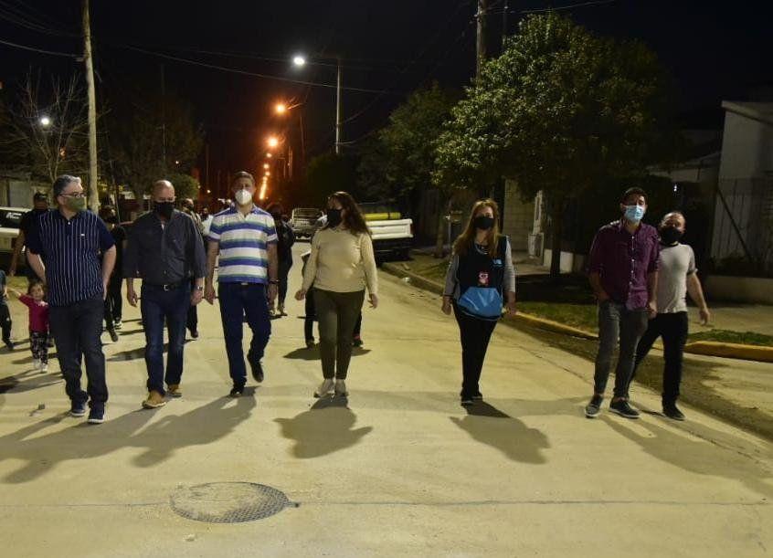 Quedó habilitada la obra de pavimentación en barrio Los Olmos