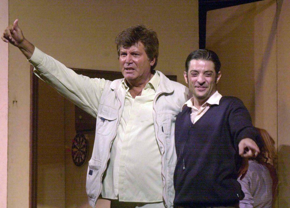 """""""Carlín"""" Calvo junto a Pablo Rago."""