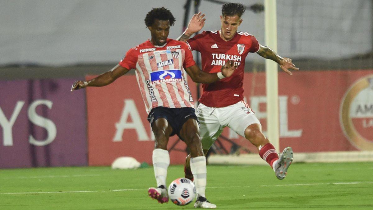 River rescató un empate ante Junior de Barranquilla.