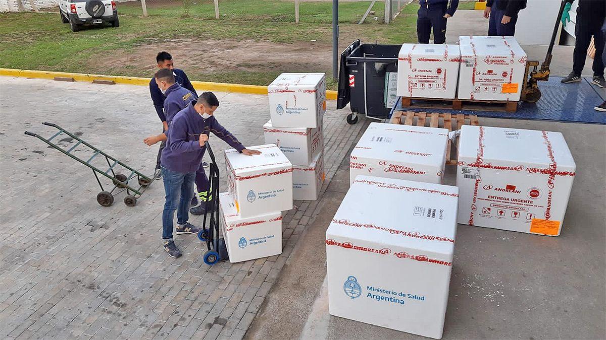 La provincia de Córdoba recibe entre hoy y mañana 41100 dosis del primer componente de Sputnik V.