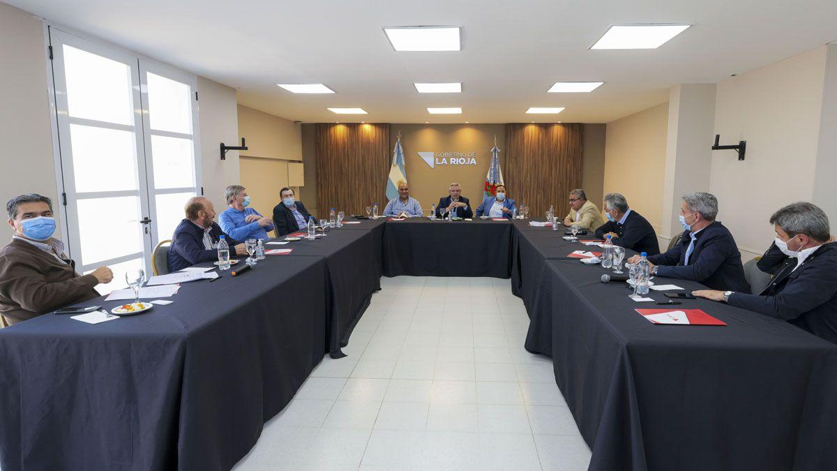Alberto Fernández encabezó la reunión con gobernadores del Frente de Todos.