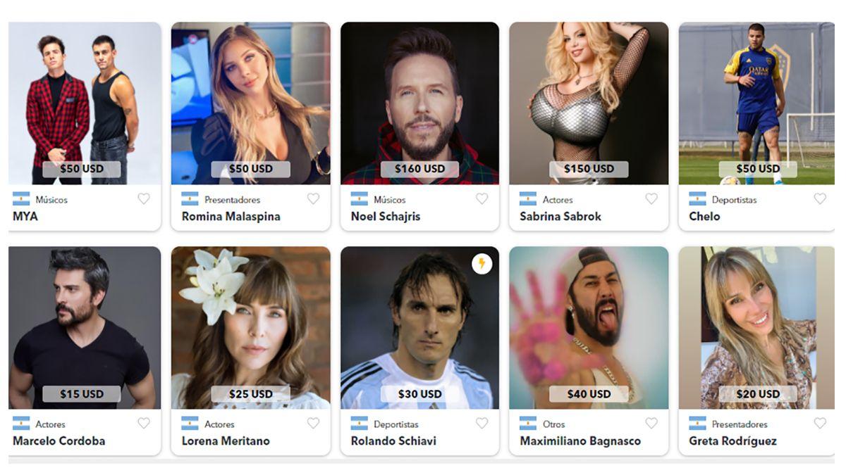 El curro de los famosos argentinos actualizó sus cifras