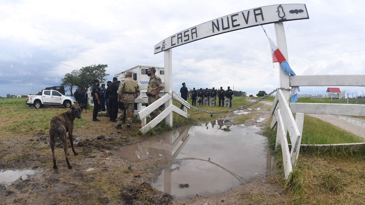 El campo de la familia Etchevehere fue desalojado esta tarde.