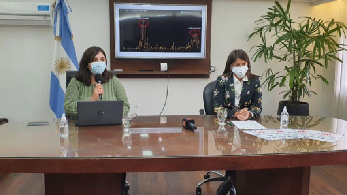 La doctora Herrera Piozzi detalló el panorama epidemiológico actual. Dijo que se observa un marcado descenso de casos.