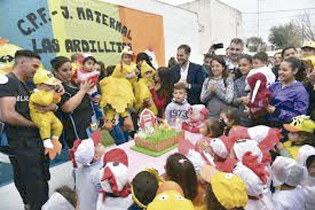 Foto de archivo sobre evento en uno de los jardines maternales.