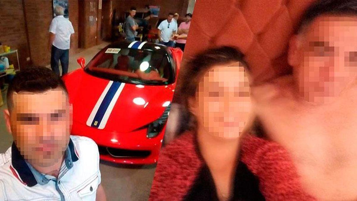 Selfie con el Ferrari y dentro de la cama: las subieron a las redes y se auto escracharon.