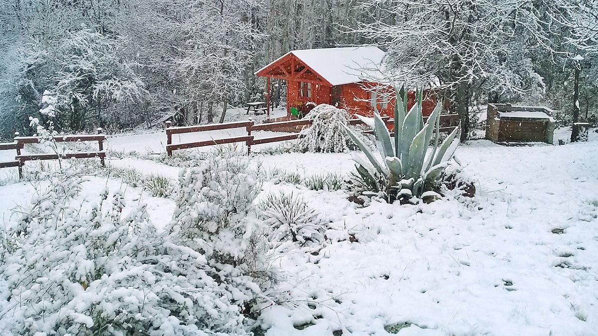 La nieve entrega verdaderas postales en Alpa Corral. (Gentileza: Alpa Sol)