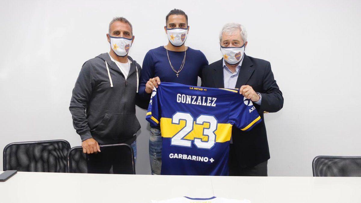 El Pulpo González se entrenó con Boca