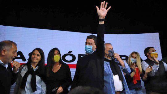 La sede de Juez y De Loredo en la capital provincial fue el epicentro de los festejos de Cambiemos. Además de ganar la interna, fueron los candidatos más votados de la provincia.
