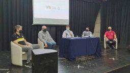 El intendente Pablo Rosso presentó el evento junto con el presidente del Ente de Deportes, Gabriel Falchetto, Alejandro Ambrosini (Federación Cordobesa), Fernando Badrán (Rivadavia) y Claudio Coria (Trinitarios).
