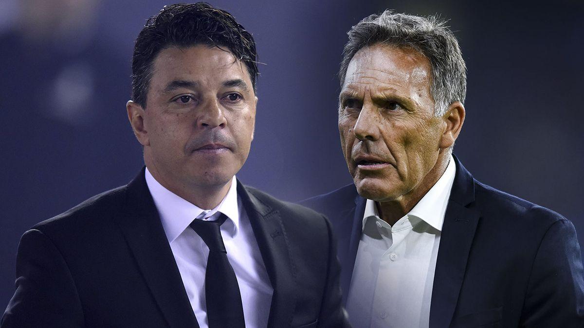 Miguel Russo y Marcelo Gallardo definen los once titulares para el superclásico.