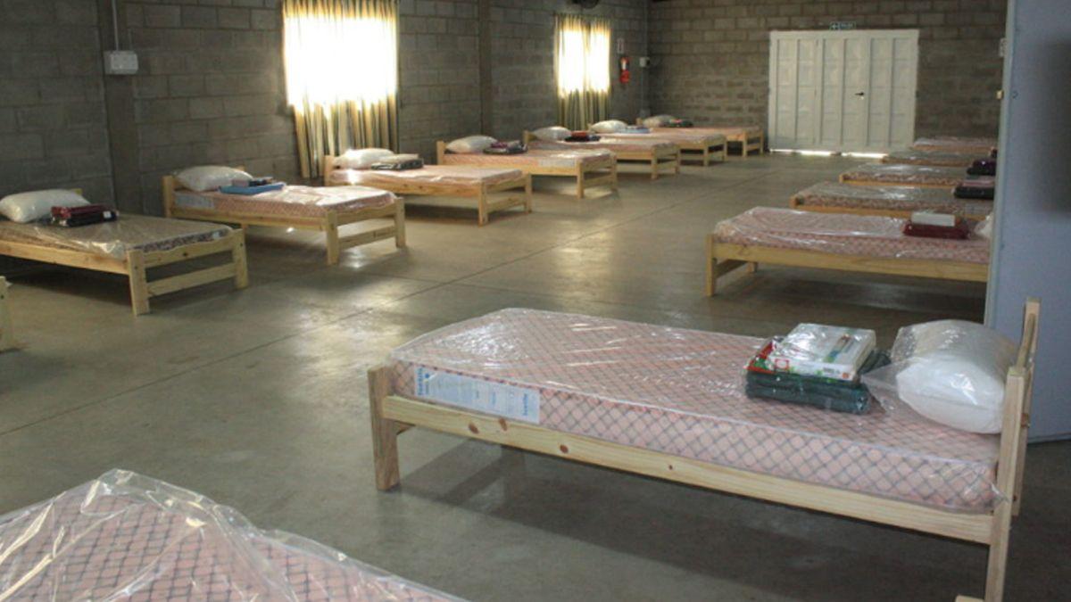 El Centro de Aislamiento en Las Higueras.