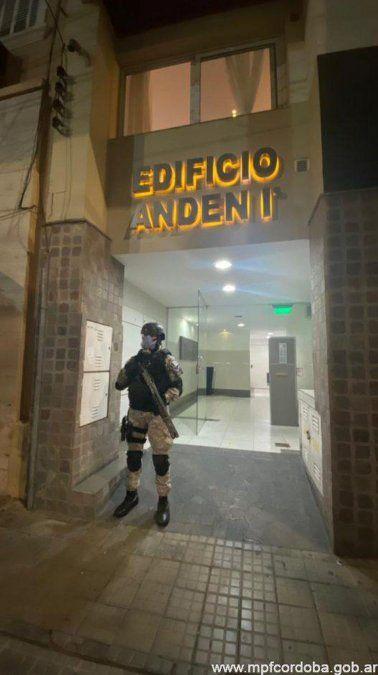 El allanamiento se llevó a cabo en un departamento de barrio Alta Córdoba.