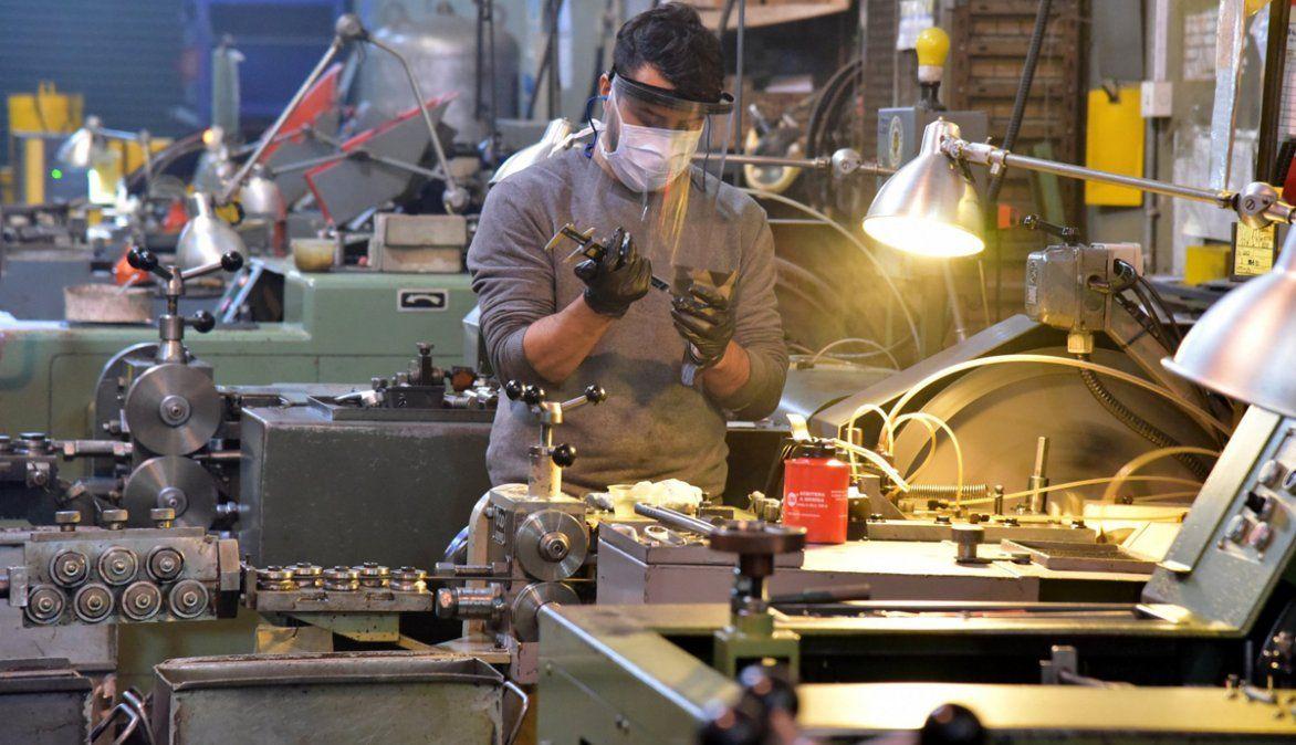La actividad industrial registró un aumento en mayo.