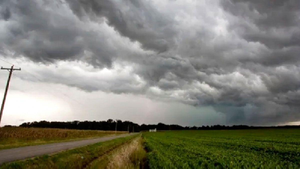 Alerta a corto plazo por tormentas fuertes con ráfagas para el departamento Río Cuarto