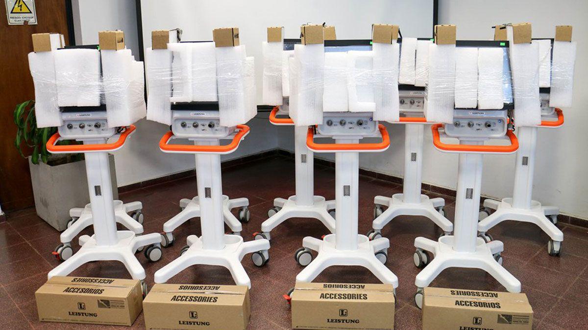 Entregaron respiradores y monitores a clínicas privadas de Río Cuarto